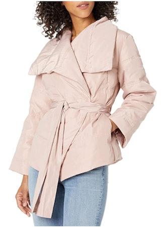 Lark & Ro Puffer Coat with Wrap