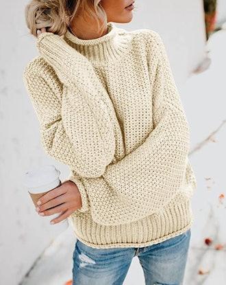 ZESICA Chunky Knitted Turtleneck