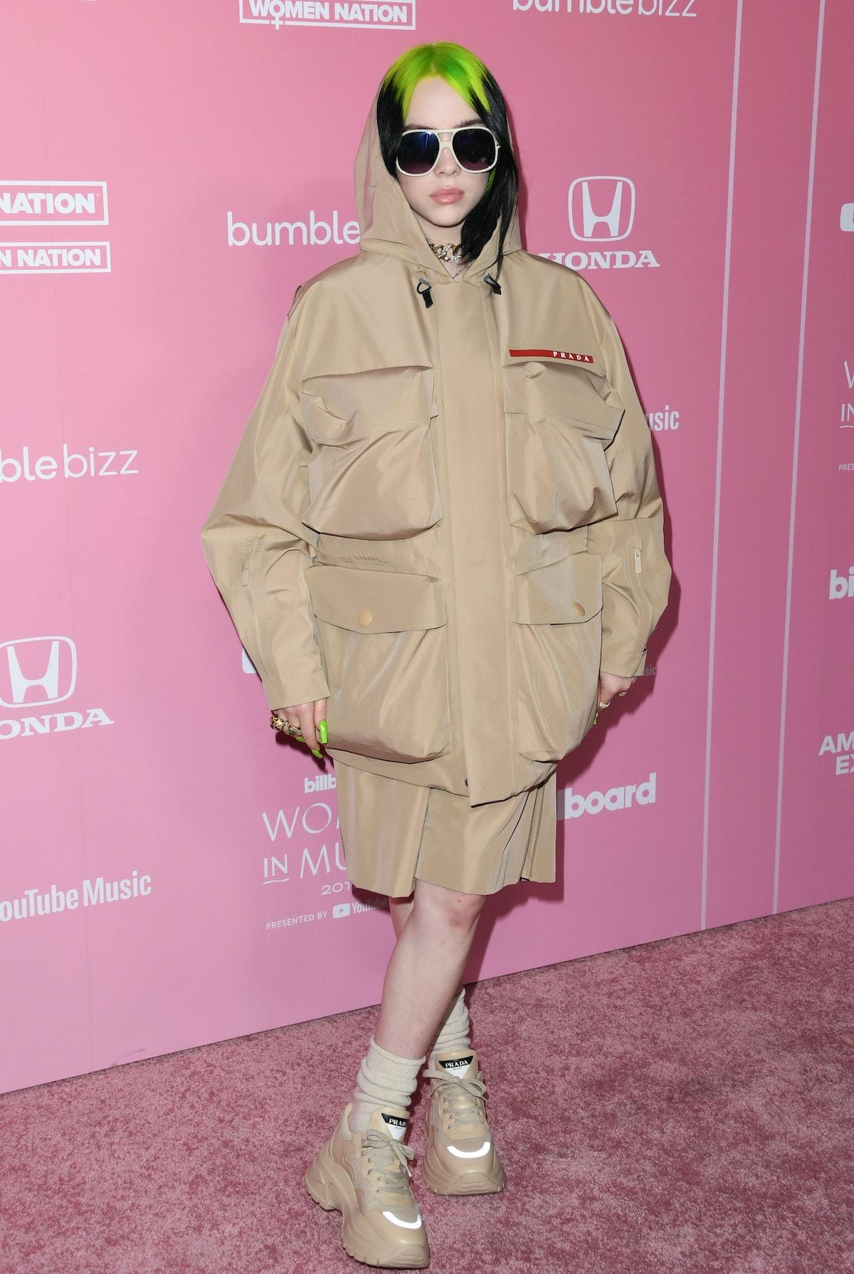 Billie Eilish attends the 2019 Billboard Women In Music at Hollywood Palladium on December 12, 2019...