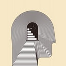 head, art, maze