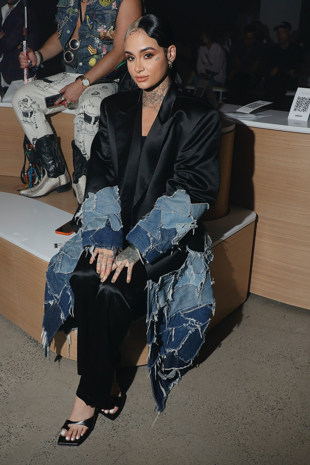 Kehlani attends the front row for Christian Cowan NYFW Spring/Summer '22 Show during NYFW: The Shows...