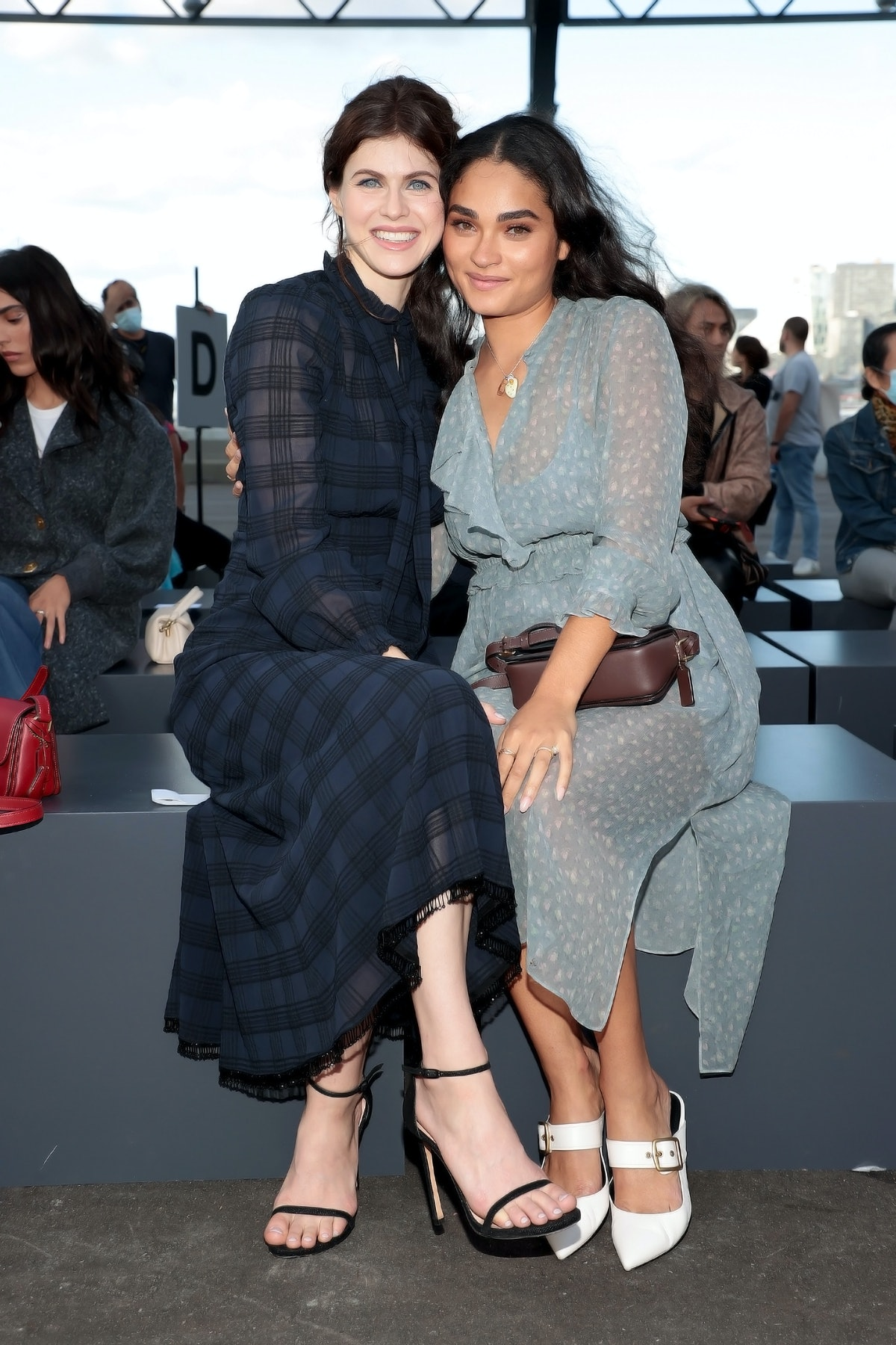 Alexandra Daddario and Brittany O'Grady sit front row for Coach during NYFW: The Shows on September ...