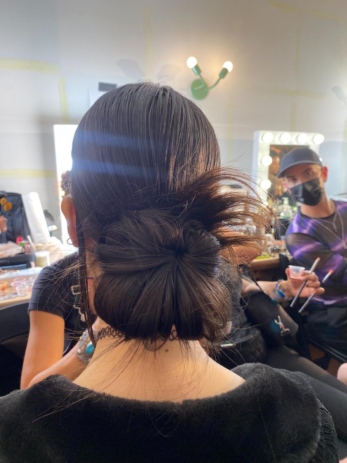 Anna Sui S/S '22 model hair