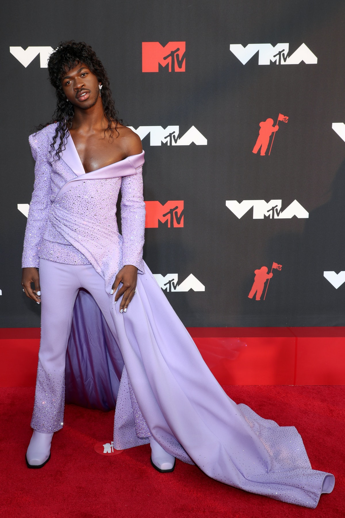 Lil Nas X attends the 2021 MTV Video Music Awards at Barclays Center on September 12, 2021 in the Br...
