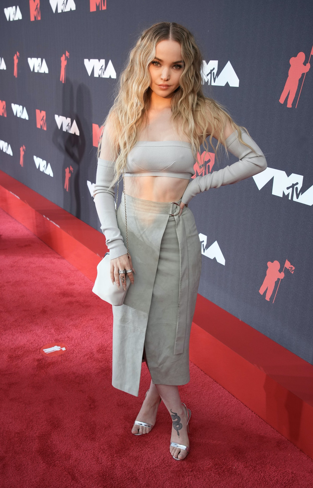 Dove Cameron attends the 2021 MTV Video Music Awards at Barclays Center on September 12, 2021 in the...