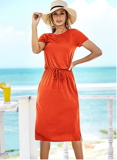 Simier Fariry Midi Dress with Pockets