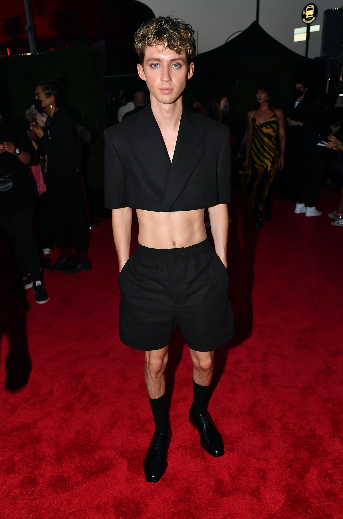 Troye Sivan attends the 2021 MTV Video Music Awards at Barclays Center on September 12, 2021 in the...