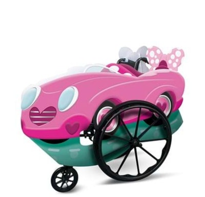 Adaptive Pink Minnie Wheelchair Cover Costume