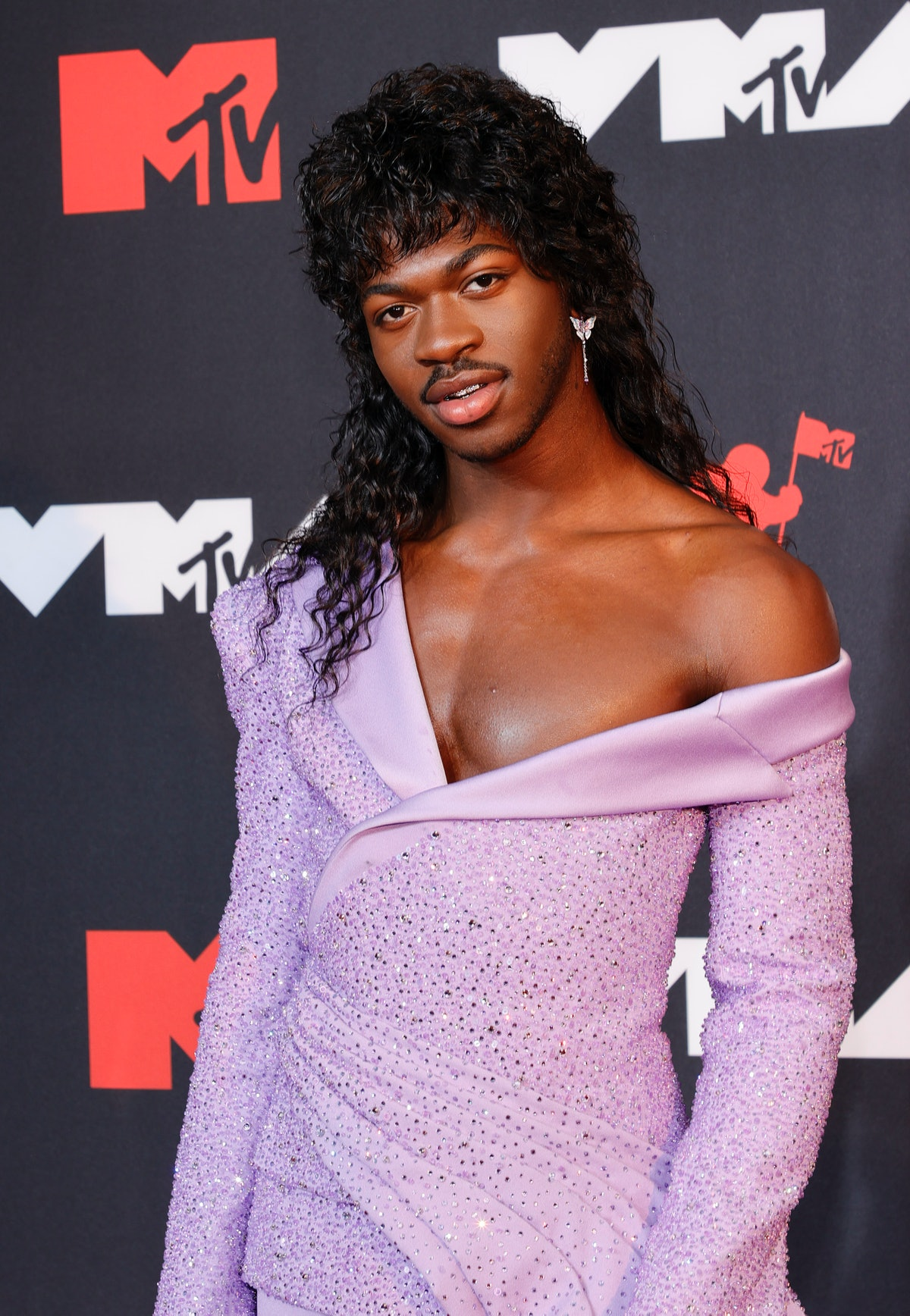 Lil Nas X attends the 2021 MTV Video Music Awards at Barclays Center on September 12, 2021 in the B...