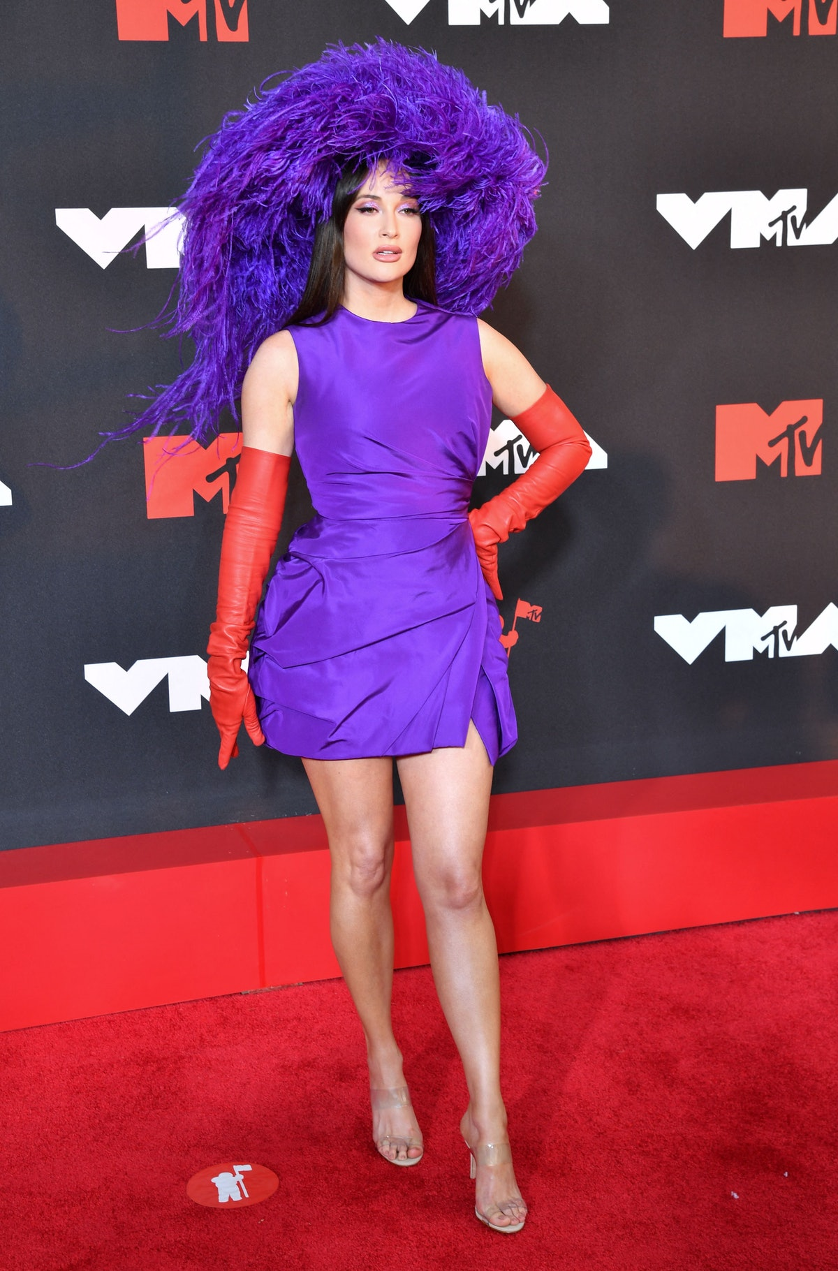 Kacey Musgraves arrives for the 2021 MTV Video Music Awards at Barclays Center in Brooklyn, New York...