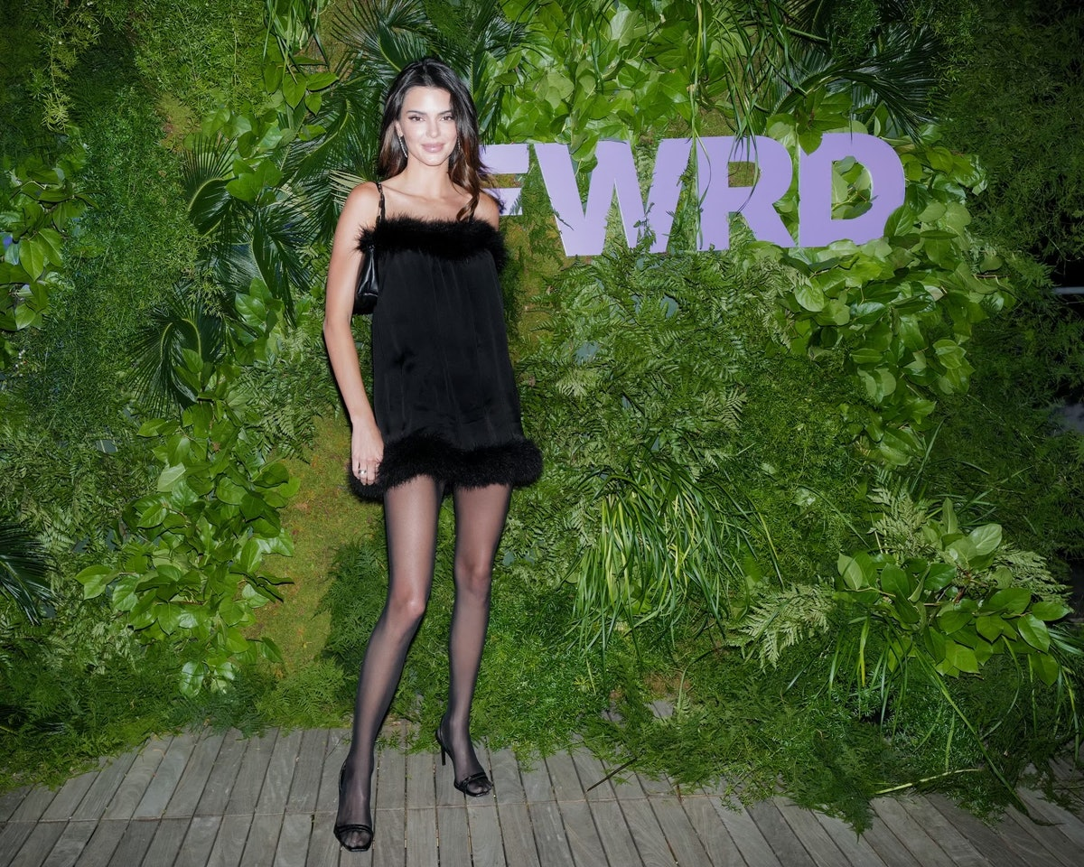 Kendall Jenner celebrating her new role as creative director of FWRD in New York City in September 2...