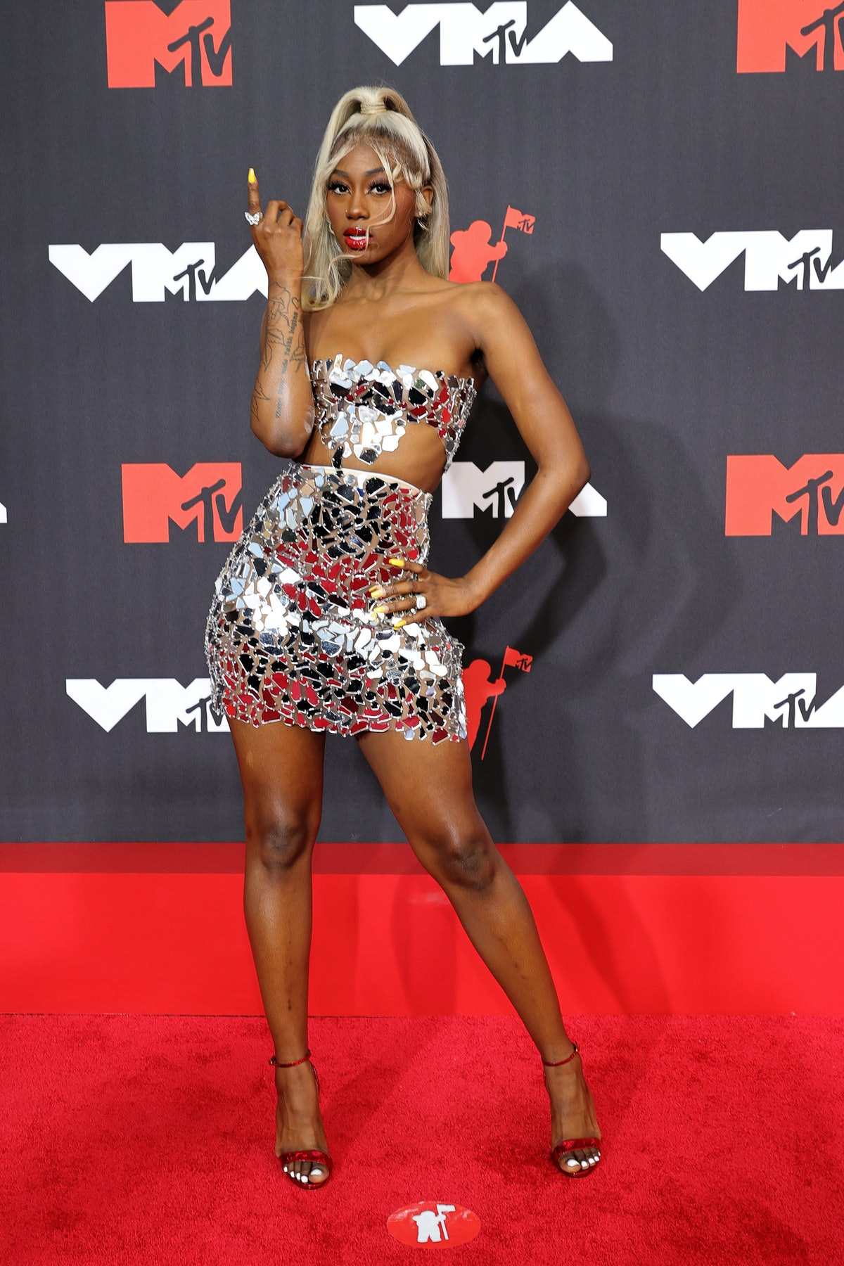 Flo Milli attends the 2021 MTV Video Music Awards at Barclays Center on September 12, 2021 in the Br...