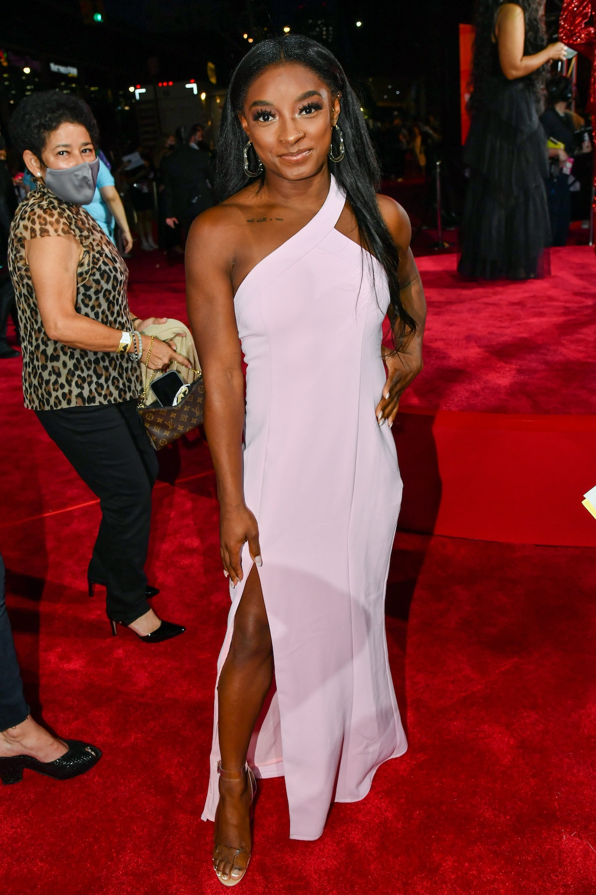 Simone Biles attends the 2021 MTV Video Music Awards at Barclays Center on September 12, 2021 in the...