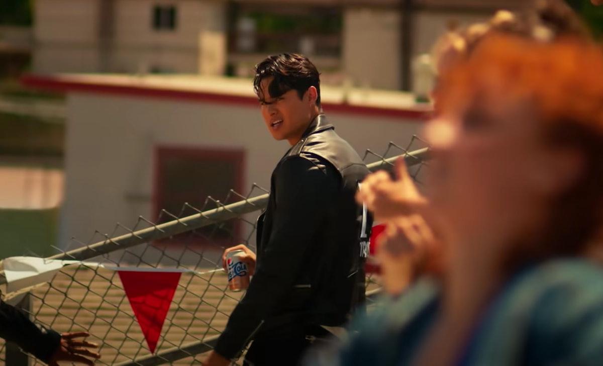Noah Steinbuch playing Danny Zuko in Pepsi's commercial with Doja Cat.