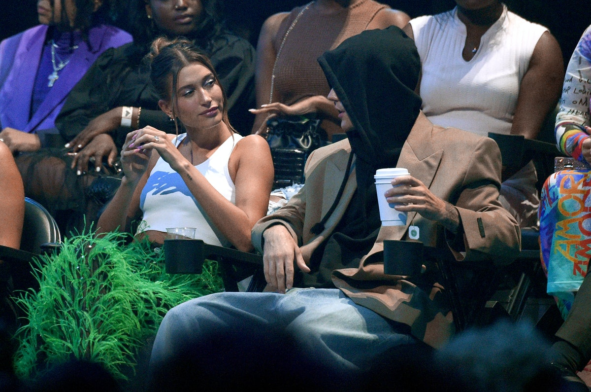 Hailey Bieber and Justin Bieber attend the 2021 MTV Video Music Awards at Barclays Center on Septemb...
