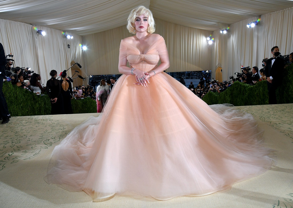 Billie Eilish attends The 2021 Met Gala Celebrating In America: A Lexicon Of Fashion at Metropolitan...