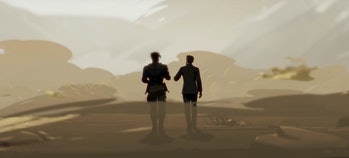 Killmonger and Tony in the desert in What If?
