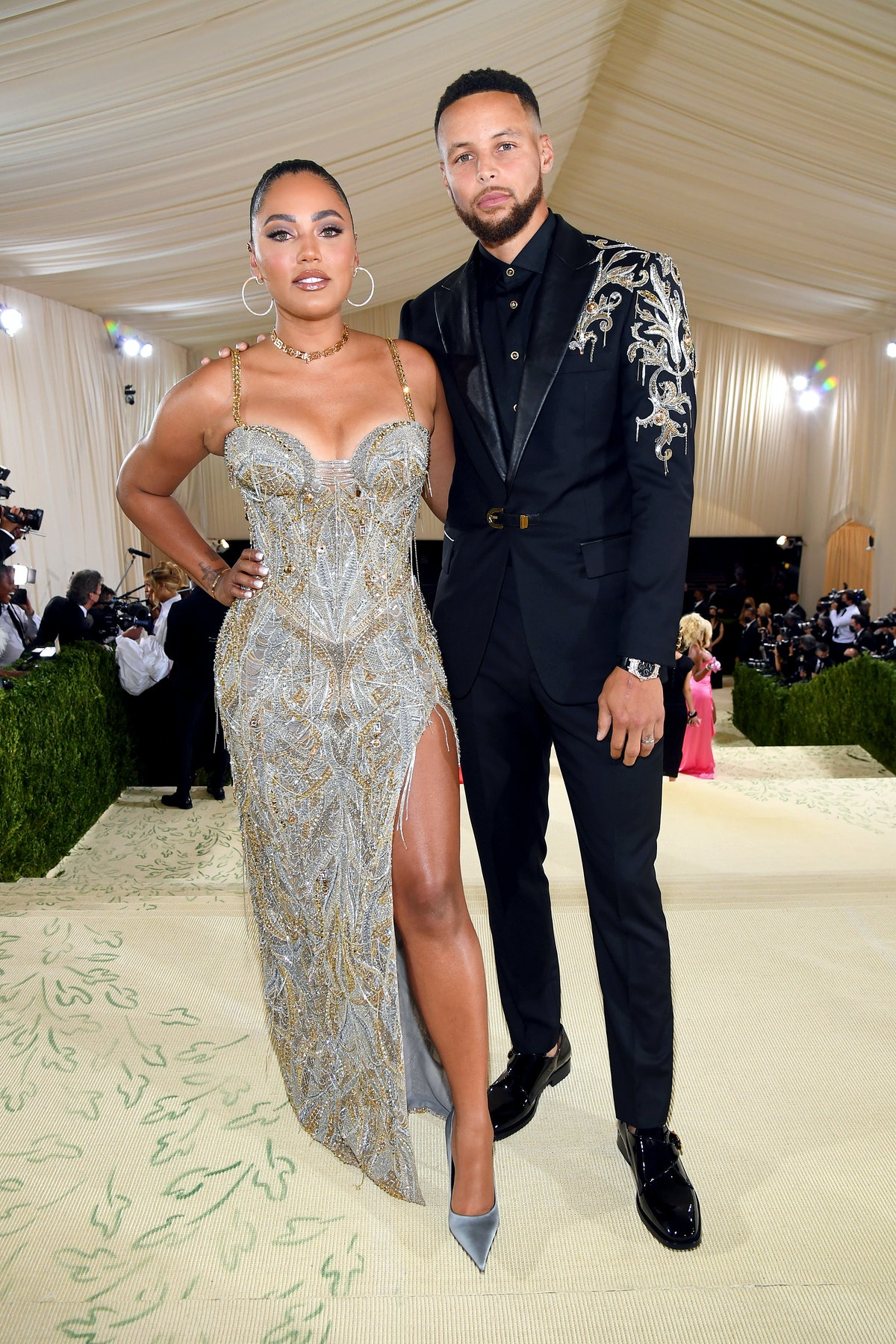 Stephen Curry and Ayesha Curry attends the The 2021 Met Gala Celebrating In America: A Lexicon Of Fa...