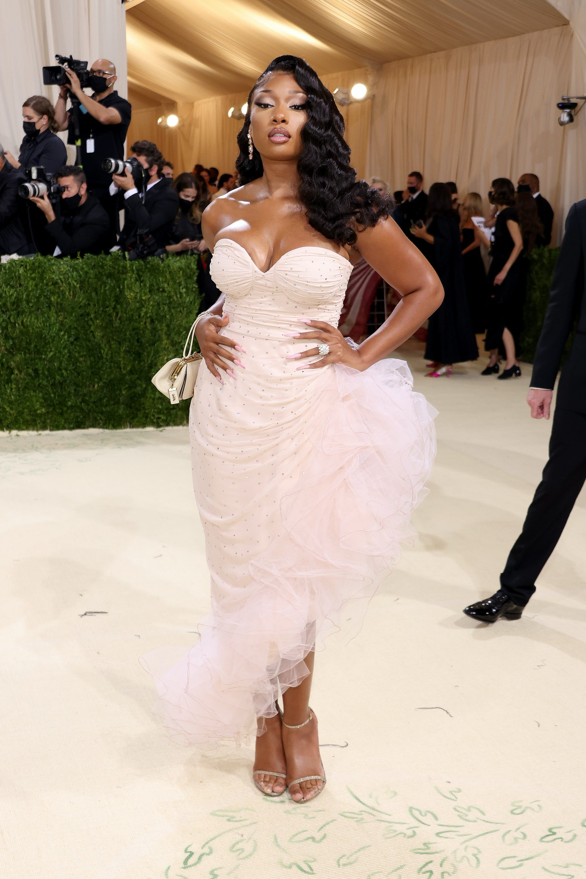 Megan Thee Stallion attends The 2021 Met Gala Celebrating In America: A Lexicon Of Fashion at Metrop...