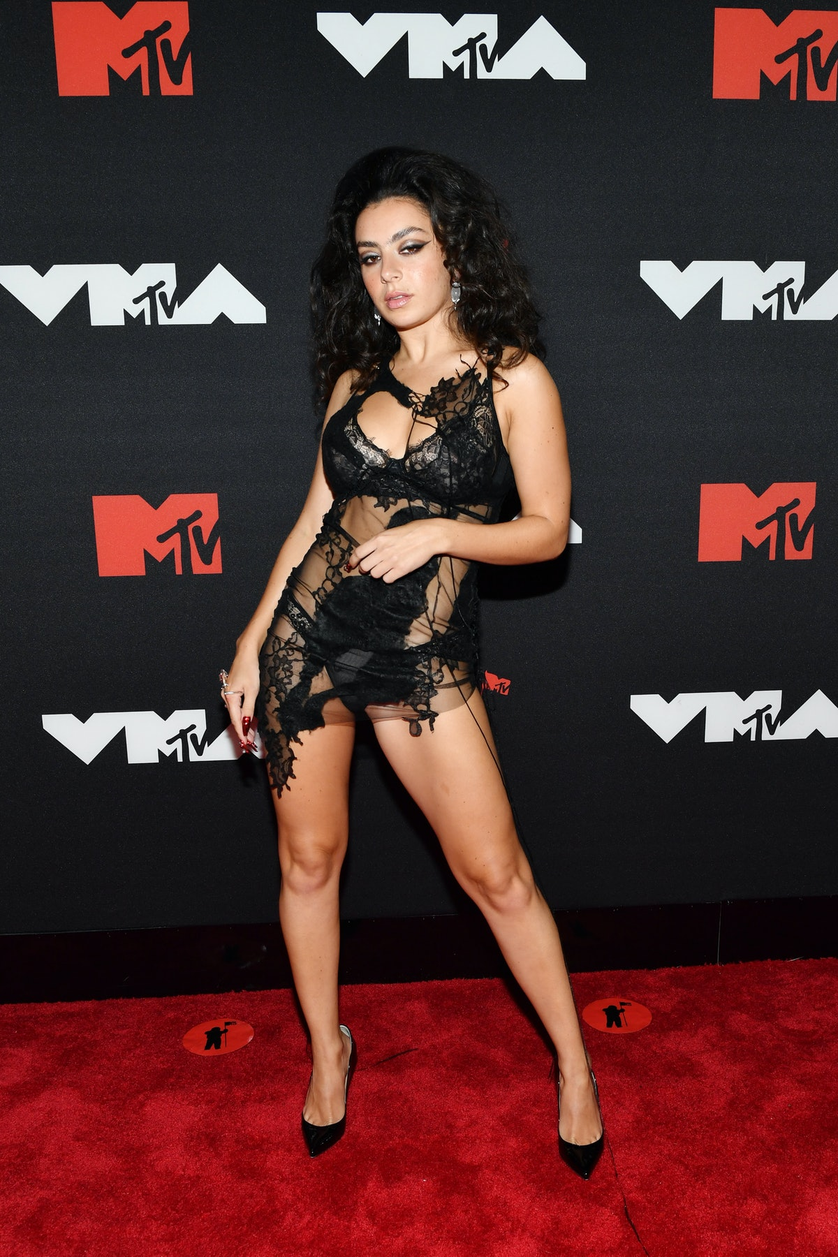 : Charli XCX attends the 2021 MTV Video Music Awards at Barclays Center on September 12, 2021 in the...