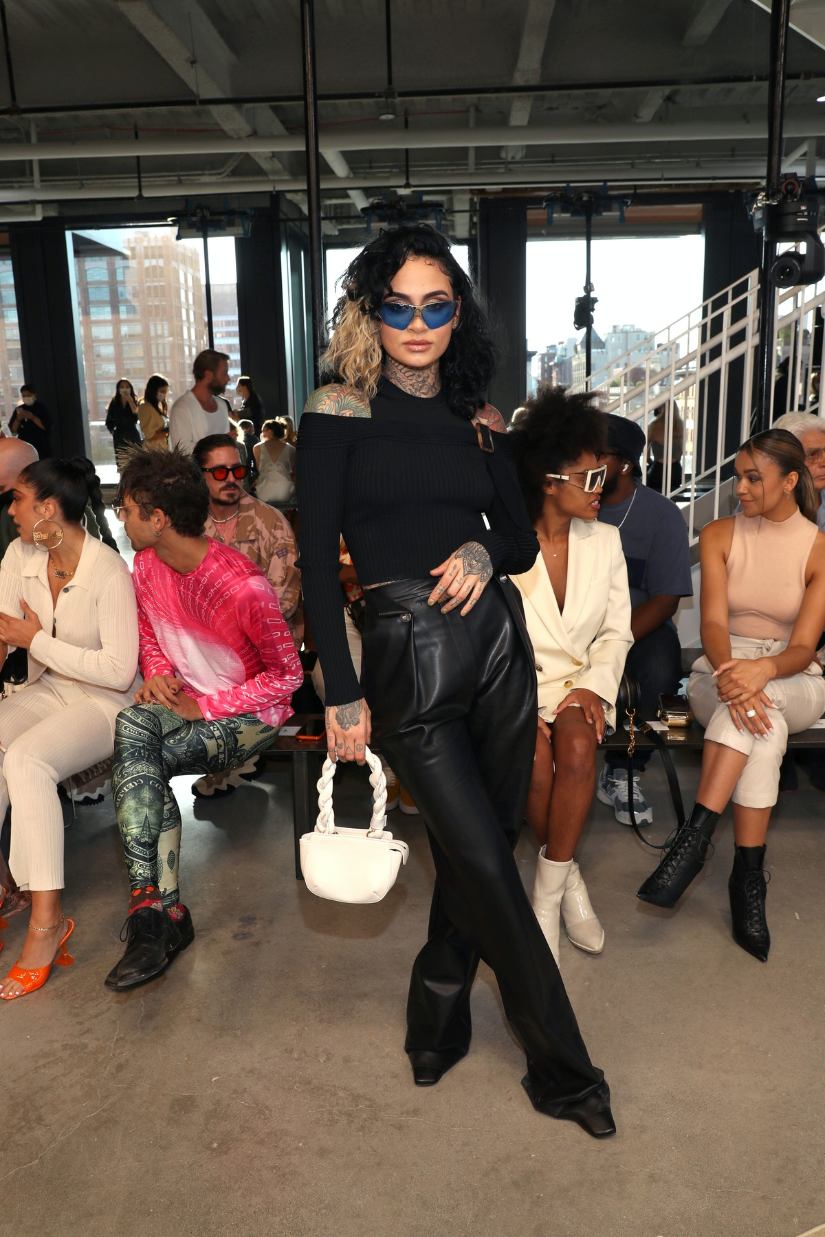 Kehlani attends the front row for Jonathan Simkhai during NYFW: The Shows on September 11, 2021 in N...