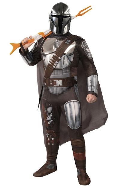 Teenager dressed as Mando from Mandalorian