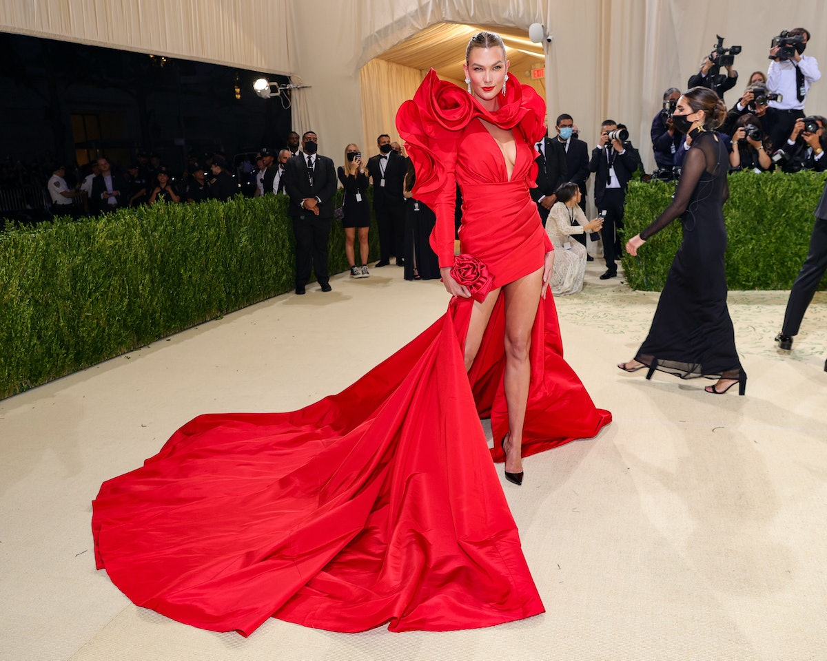 Karlie Kloss attends The 2021 Met Gala Celebrating In America: A Lexicon Of Fashion at Metropolitan...