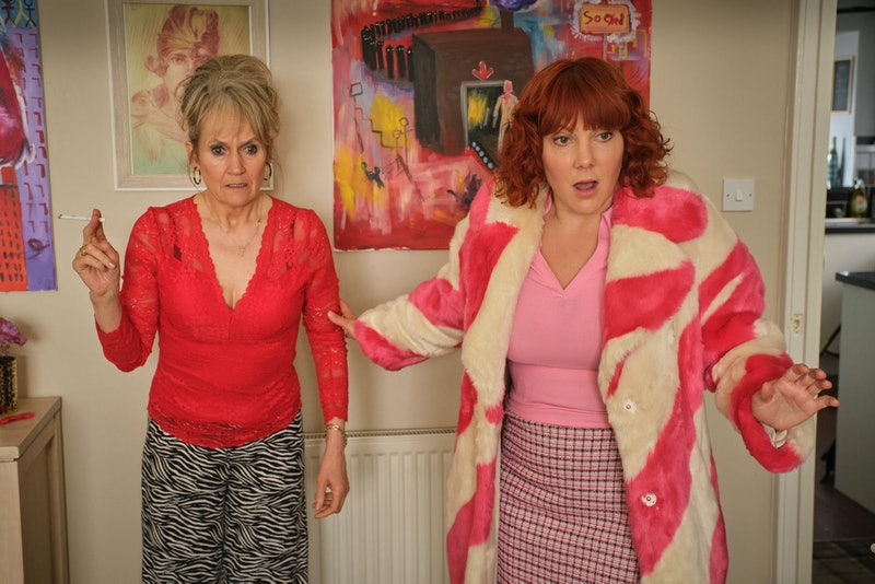 Sophie Willan as Alma and Lorraine Ashbourne as Joan in BBC's 'Alma's Not Normal'