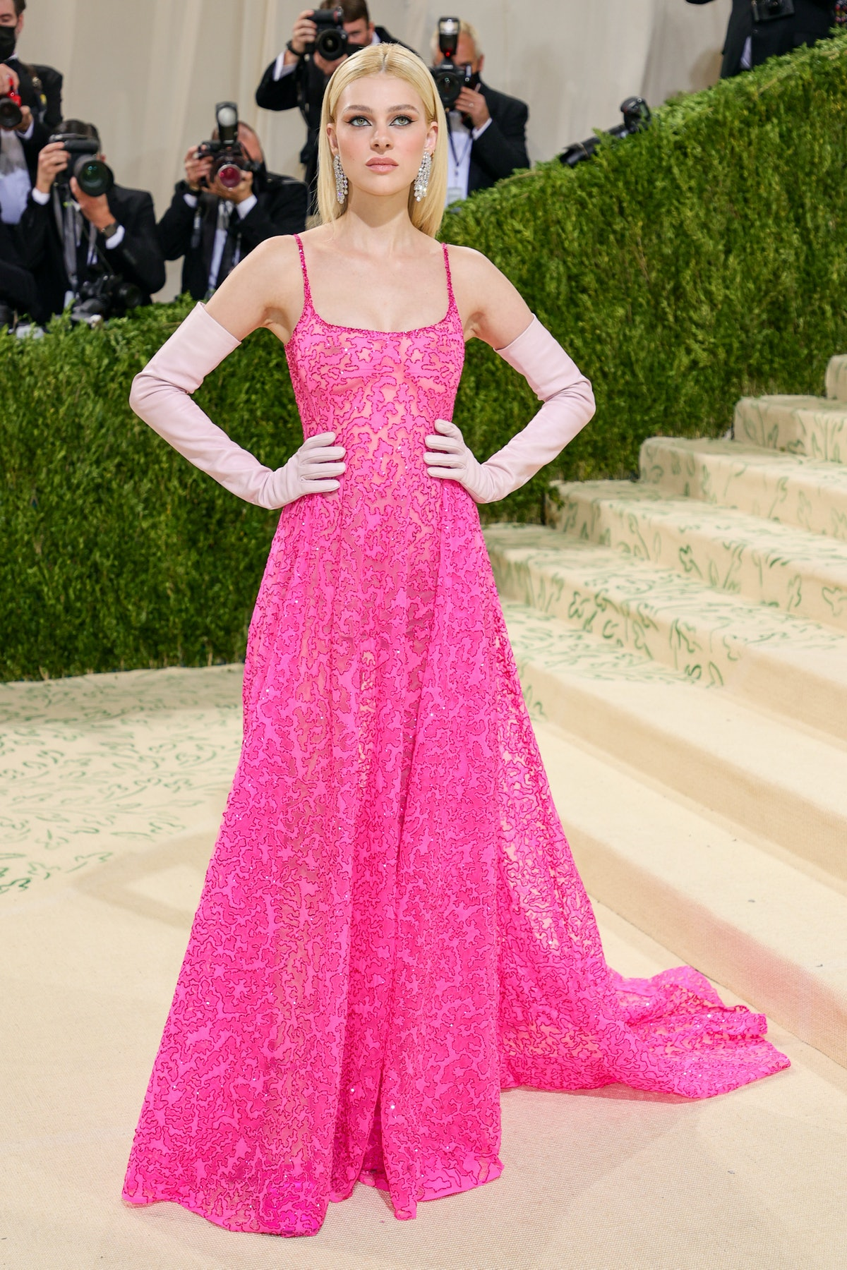 Nicola Peltz attends The 2021 Met Gala Celebrating In America: A Lexicon Of Fashion at Metropolitan ...