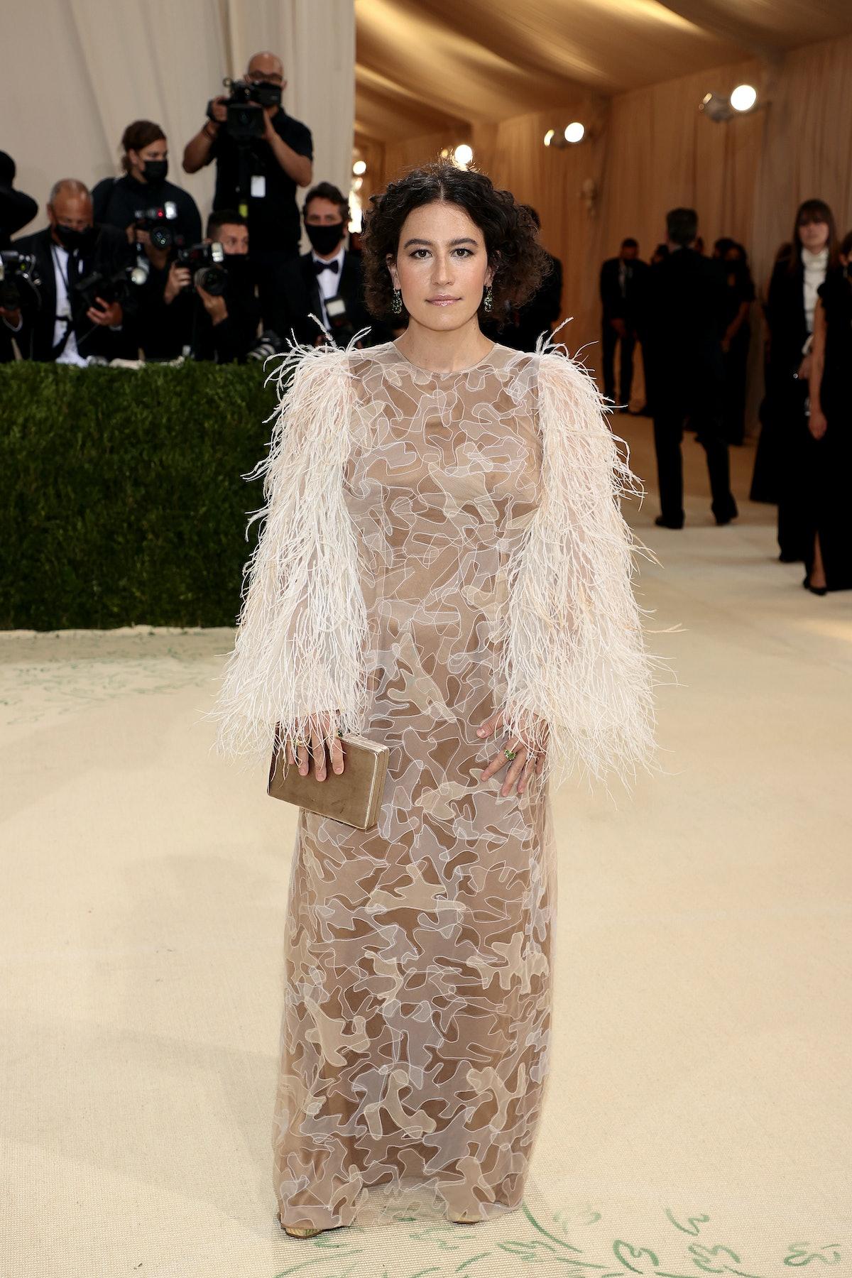 Ilana Glazer attends The 2021 Met Gala Celebrating In America: A Lexicon Of Fashion at Metropolitan...