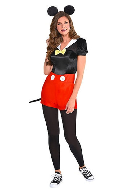 Adult dressed as Mickey Mouse
