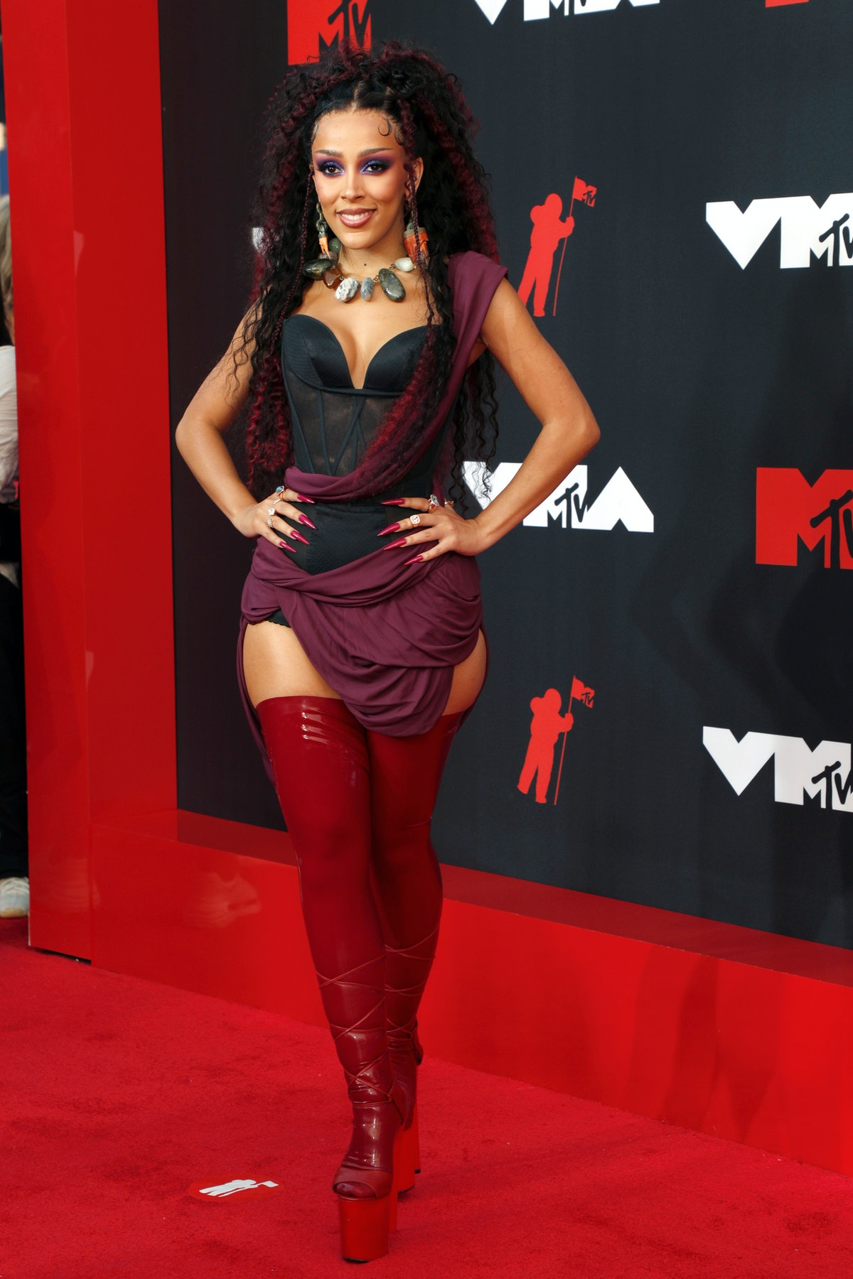 Doja Cat attends the 2021 MTV Video Music Awards at Barclays Center on September 12, 2021 in the Bro...