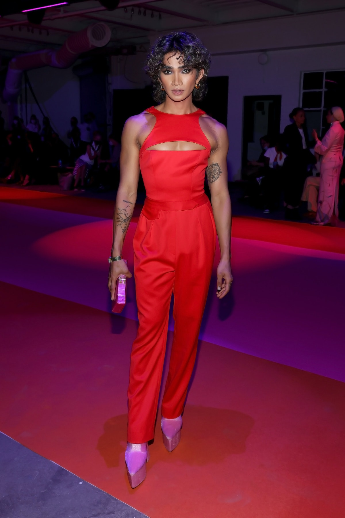 Bretman Rock attends the front row for Brandon Maxwell during NYFW: The Shows on September 10, 2021...