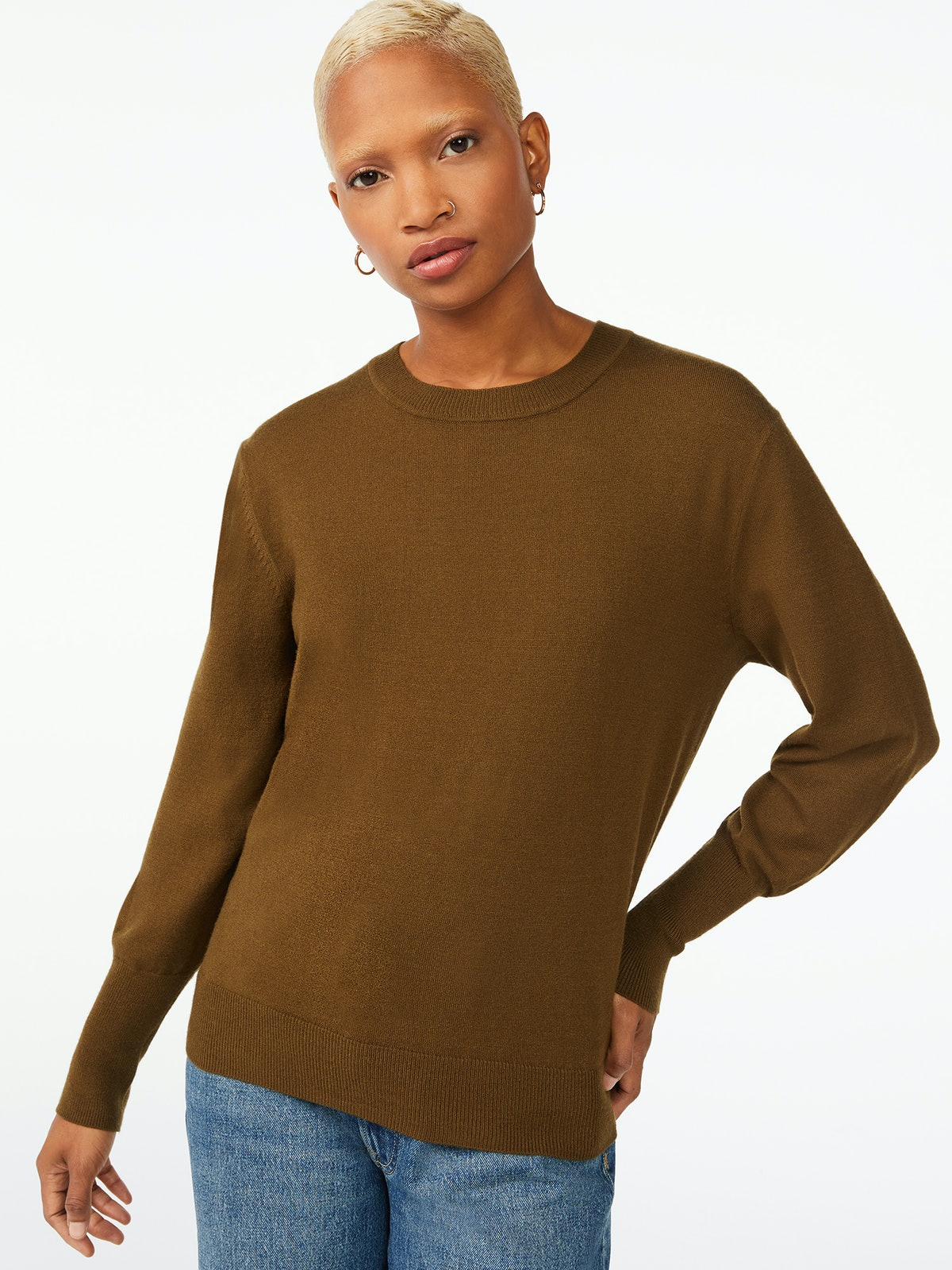 Boxy Cozy Yarn Sweater