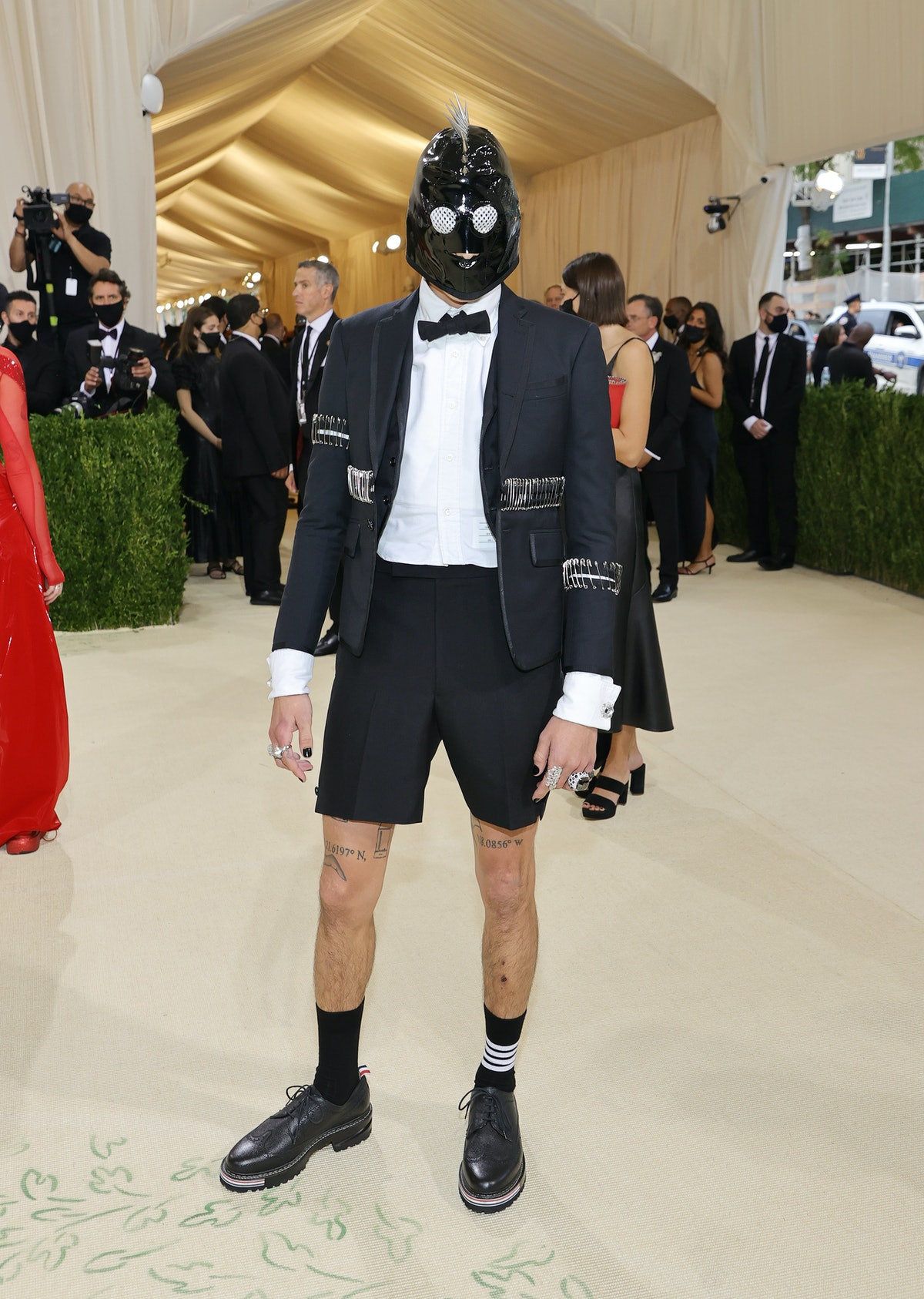 Evan Mock attends The 2021 Met Gala Celebrating In America: A Lexicon Of Fashion at Metropolitan Mu...
