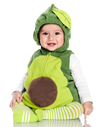 Baby dressed up as an avocado