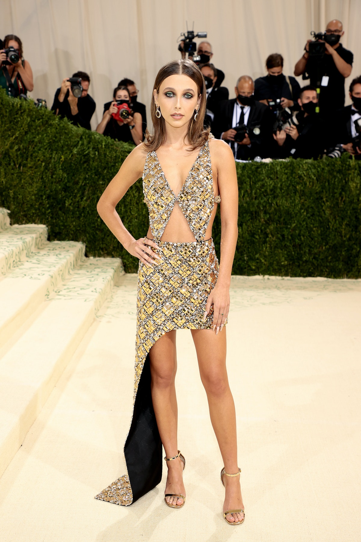 Emma Chamberlain attends The 2021 Met Gala Celebrating In America: A Lexicon Of Fashion at Metropoli...