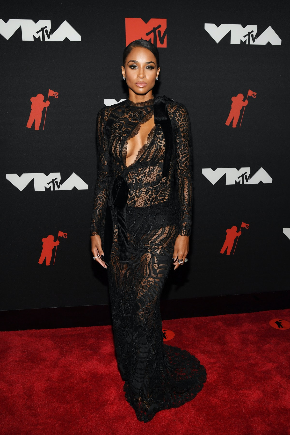 Ciara attends the 2021 MTV Video Music Awards at Barclays Center on September 12, 2021 in the Brookl...