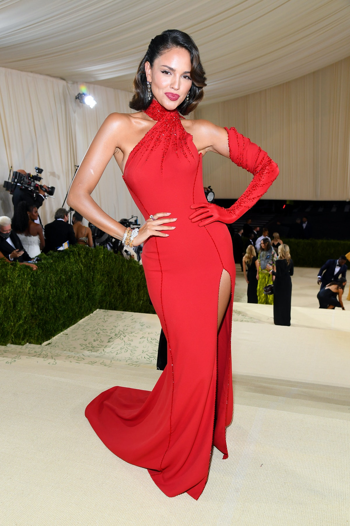 Eiza González attends the The 2021 Met Gala Celebrating In America: A Lexicon Of Fashion at Metropo...