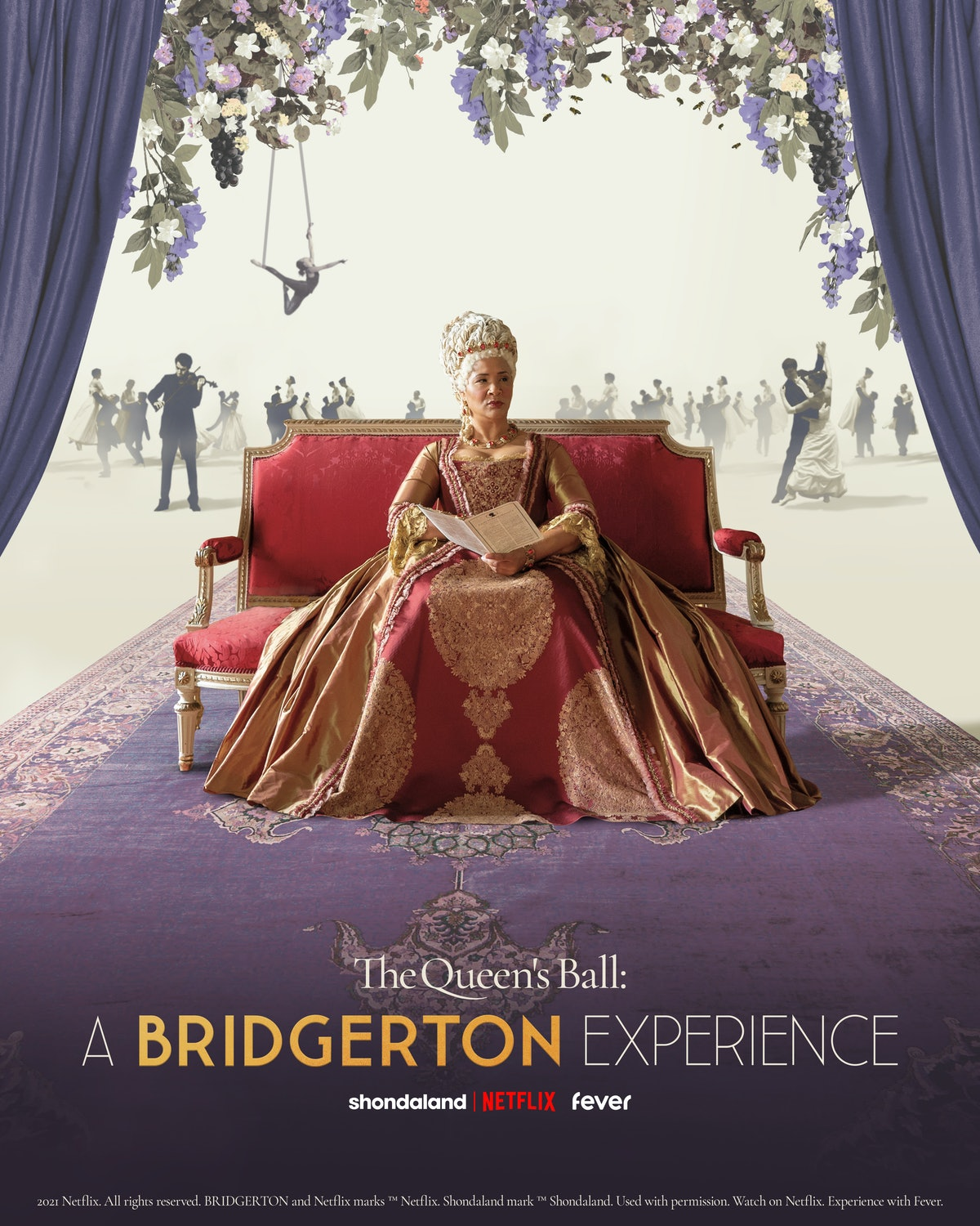 'The Queen's Ball: A Bridgerton Experience' is an immersive show happening in 2022 in select cities ...