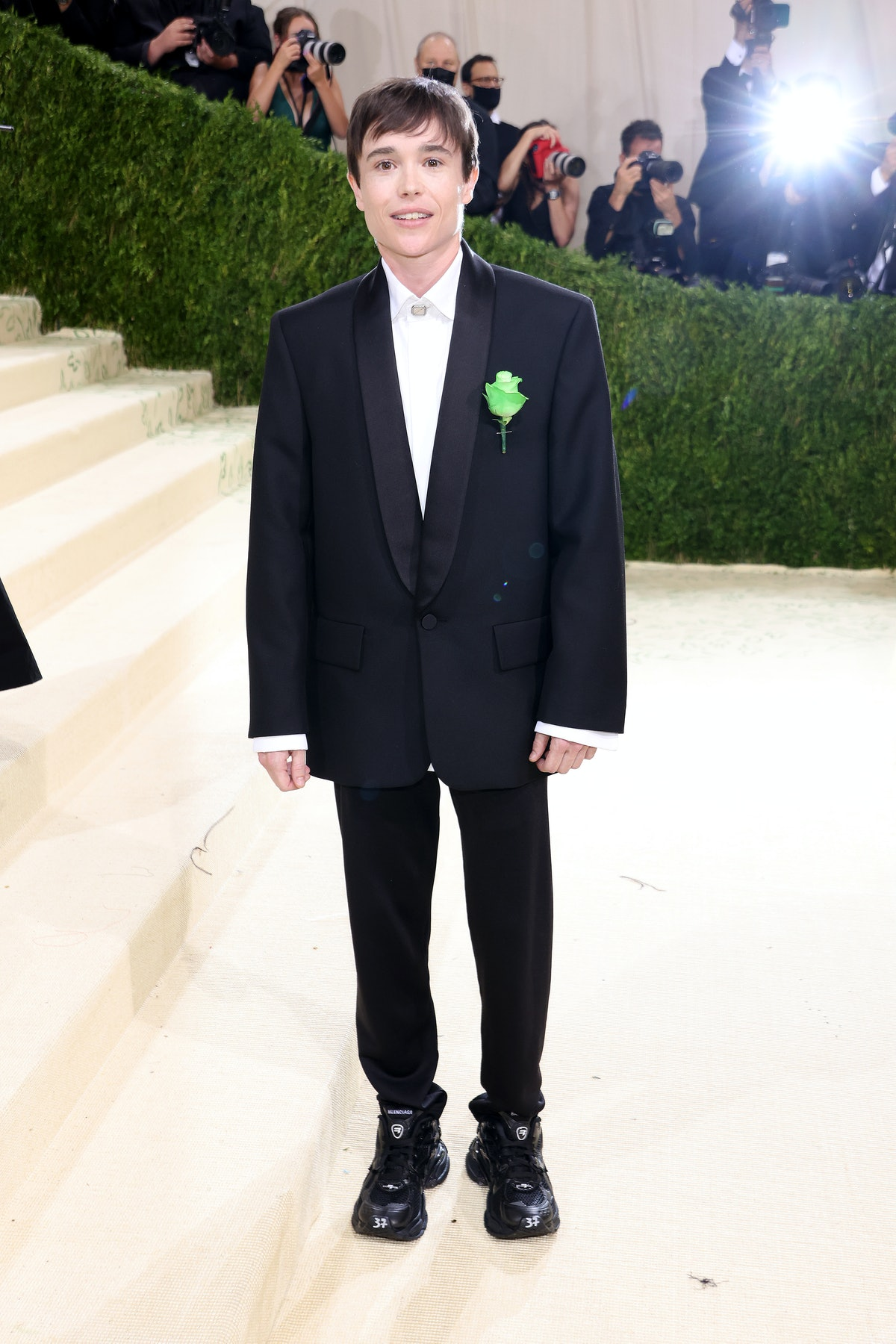 Elliot Page attends The 2021 Met Gala Celebrating In America: A Lexicon Of Fashion at Metropolitan M...