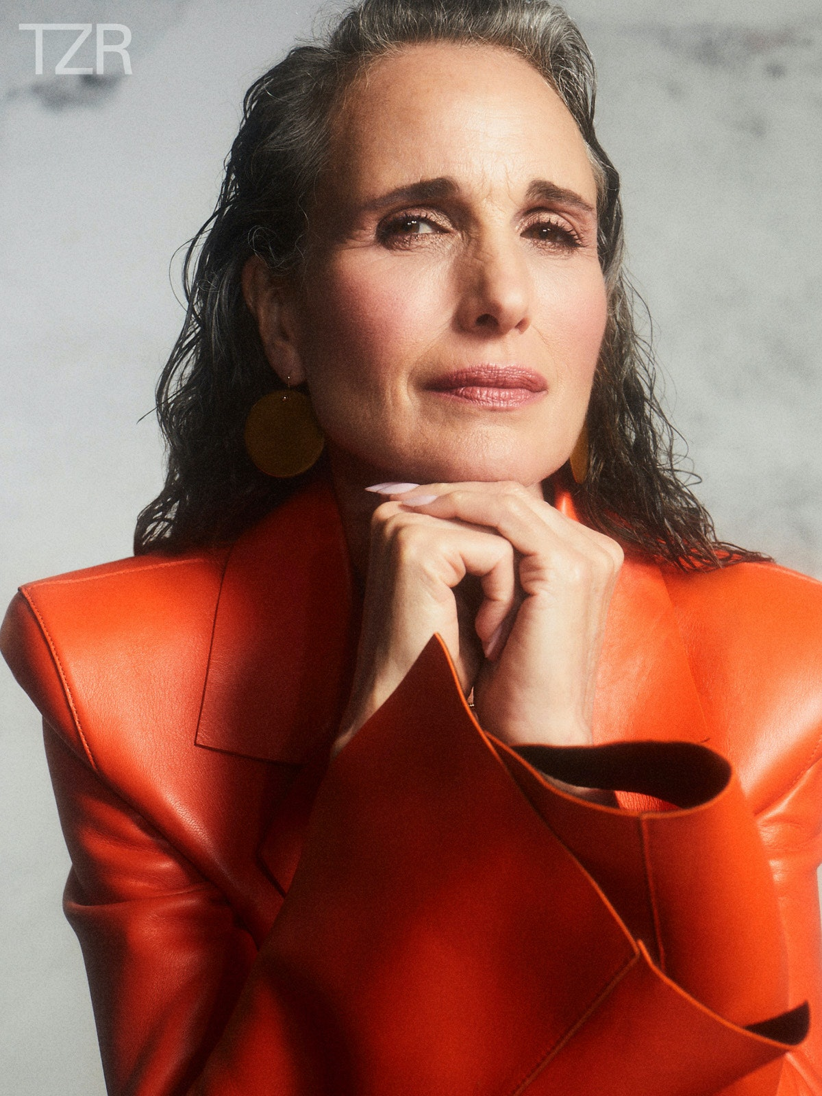 TZR cover star Andie MacDowell's beauty routine includes barely there foundation.