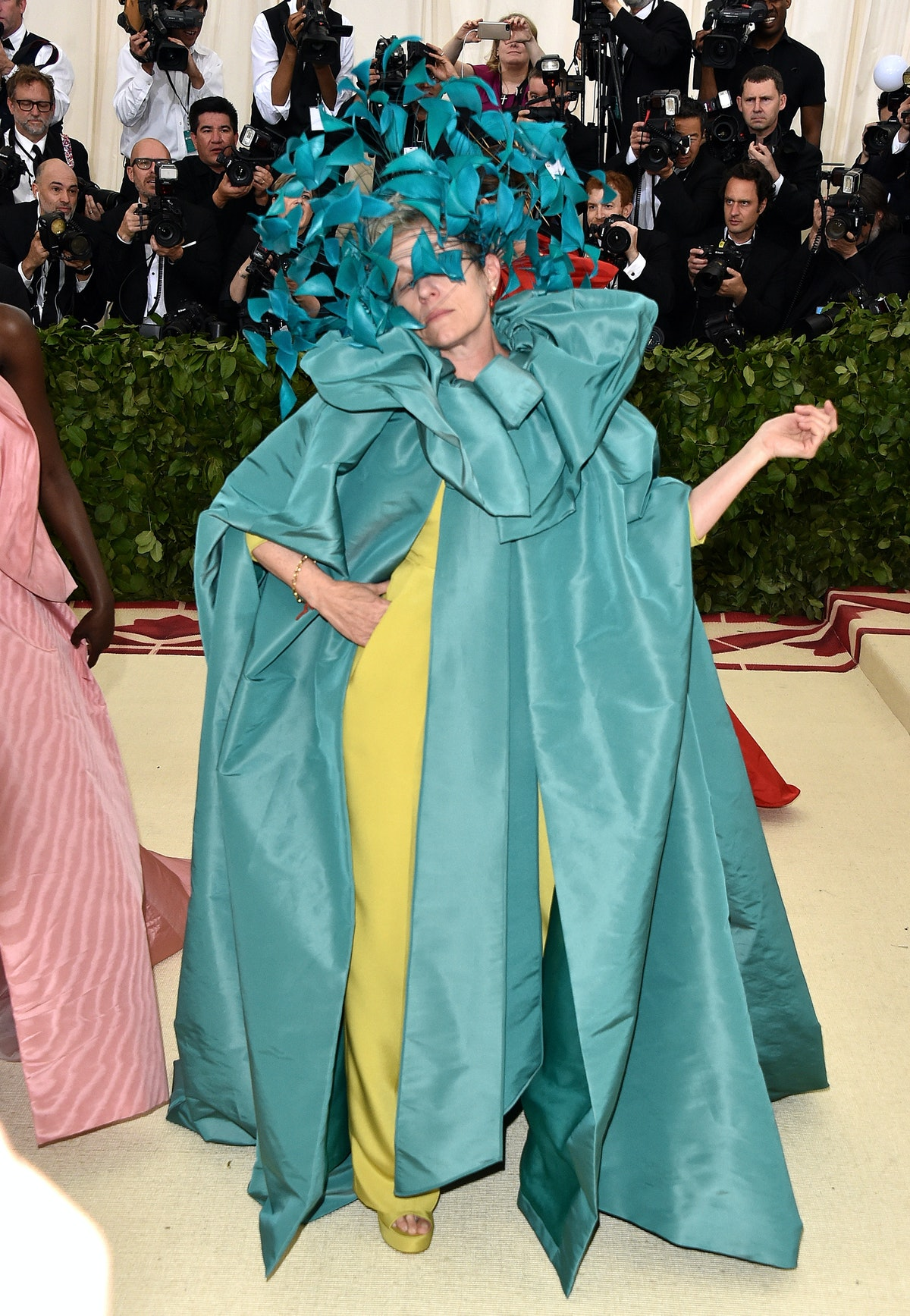Frances McDormand attends the Heavenly Bodies: Fashion & The Catholic Imagination Costume Institute ...