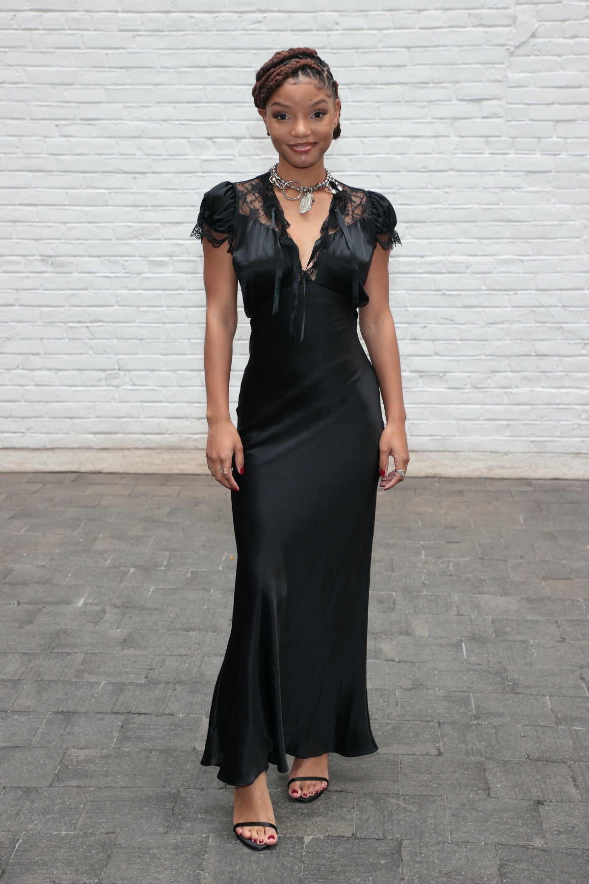 Halle Bailey attends the front row for Rodarte during NYFW: The Show on September 11, 2021 in New Y...