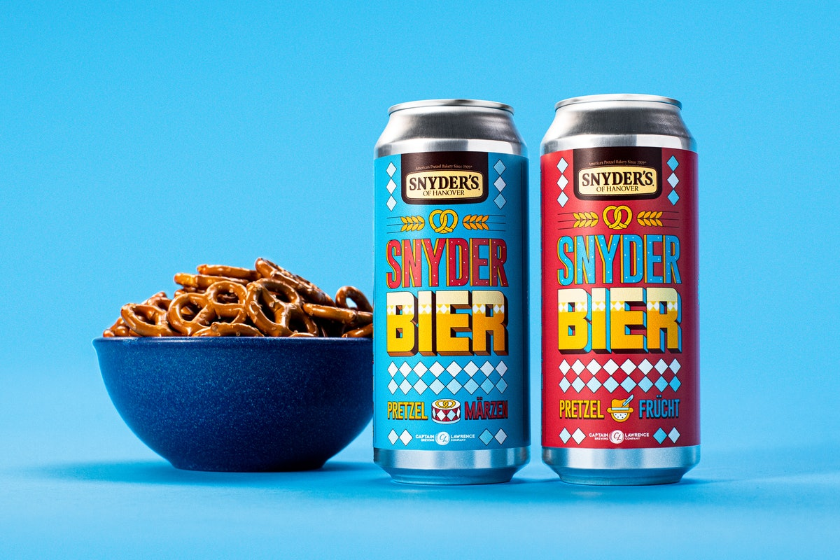 Here's where to buy Snyder's pretzel-flavored beer with Captain Lawrence Brewing.