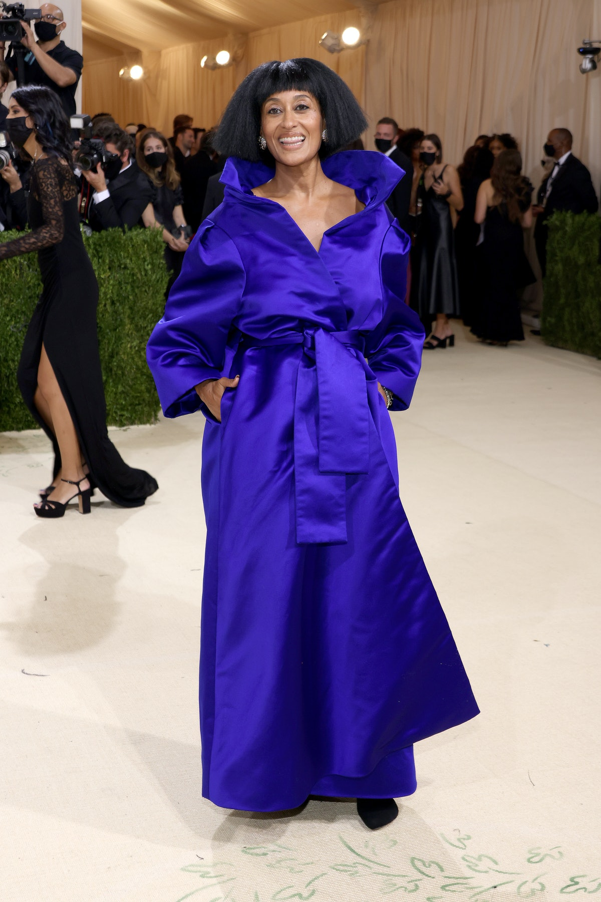 Tracee Ellis Ross attends The 2021 Met Gala Celebrating In America: A Lexicon Of Fashion at Metropol...