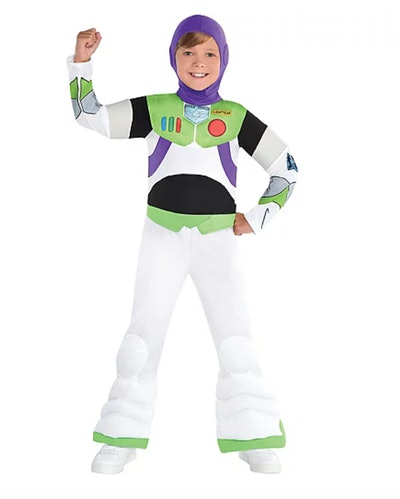 """Little boy dressed up as Buzz Lightyear from """"Toy Story"""""""
