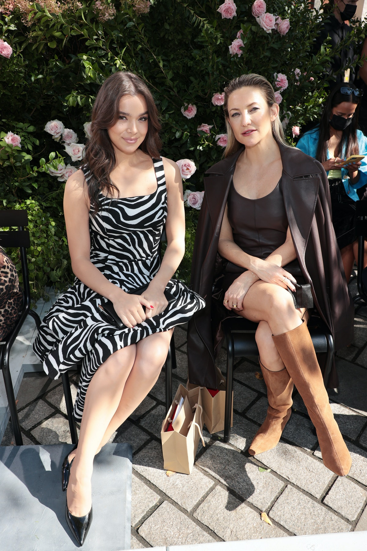 Hailee Steinfeld and Kate Hudson attend the SP22 Michael Kors Collection Runway Show at Tavern On Th...