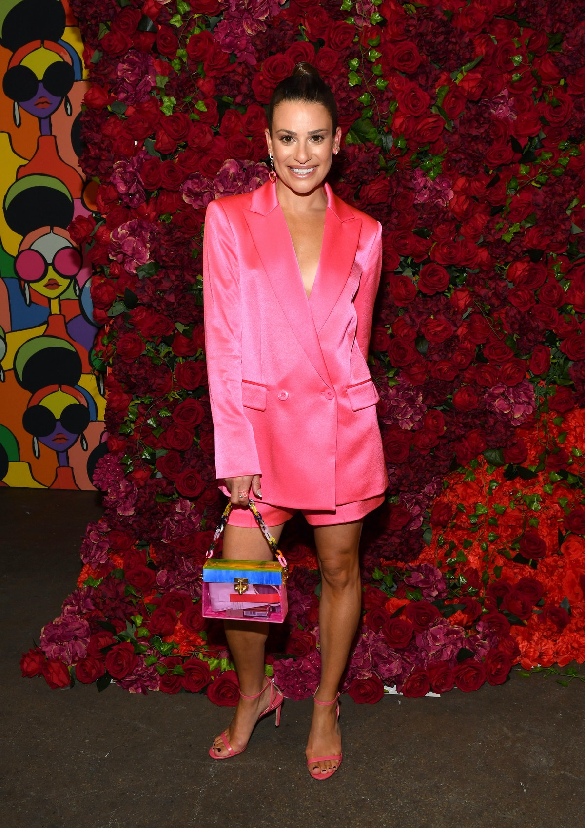 Lea Michele poses for a photo during TRESemme x Alice + Olivia during New York Fashion Week at High...