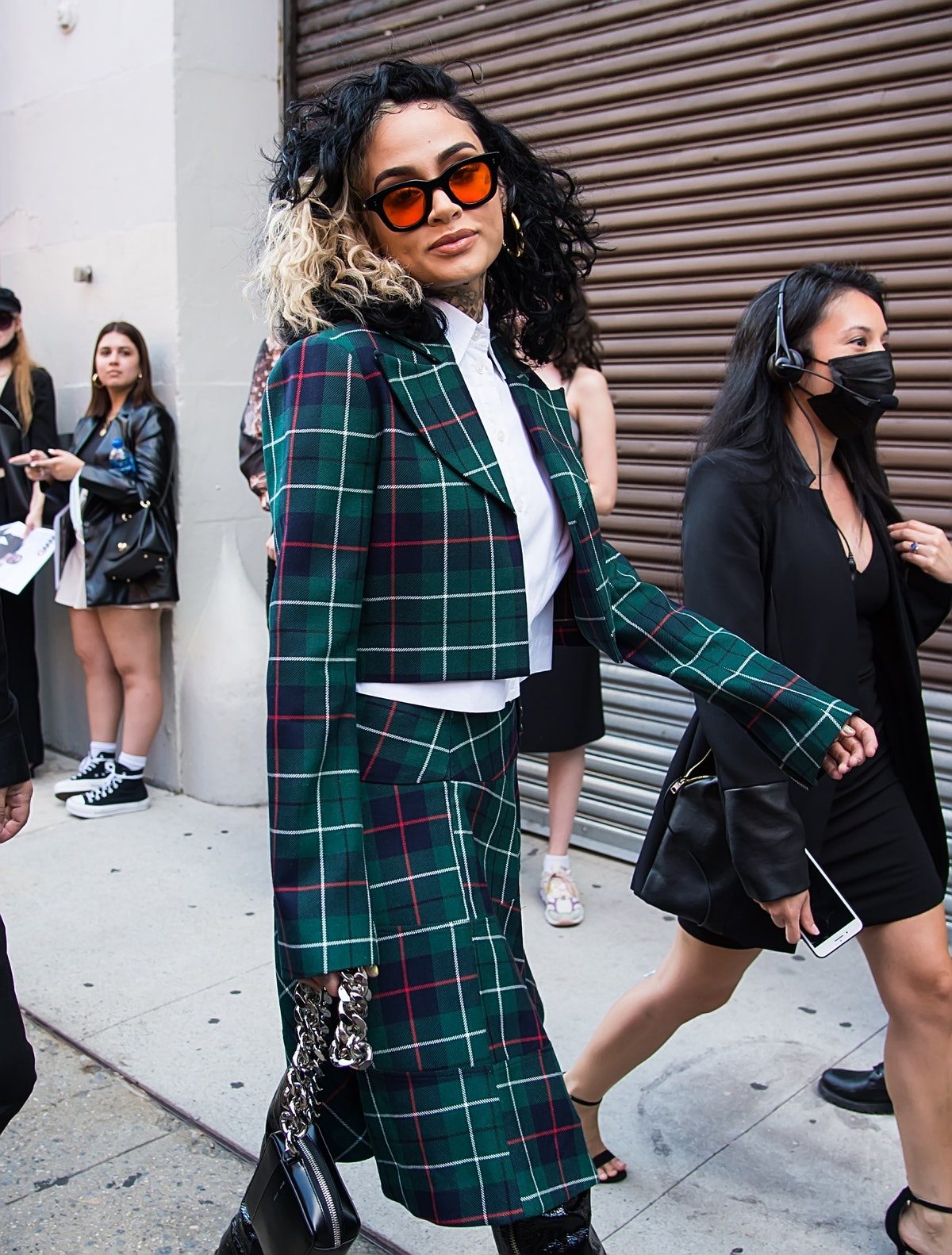 Singer Kehlani is seen arriving to the Anna Sui Spring Summer 2022 during New York Fashion Week at I...